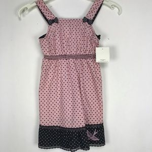 Rockabilly for Little Girl  Pink Polka Dot Sparrow